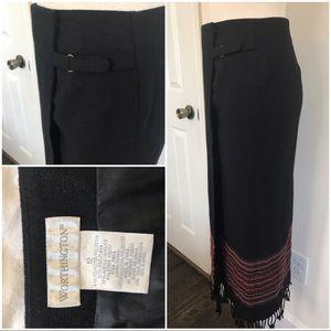 Vtg style blanket skirt
